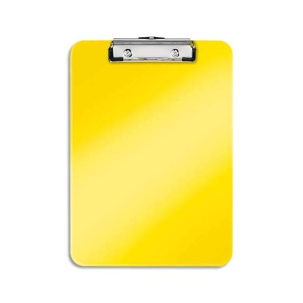 LEITZ Porte-blocs A4 jaune, crochet de suspension, capacité 75 feuilles - L22,8 x H1,7 x P32 cm