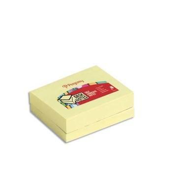 PERGAMY Bloc de 100 feuilles repositionnables - 7,6x5,1cm - Jaune pastel.