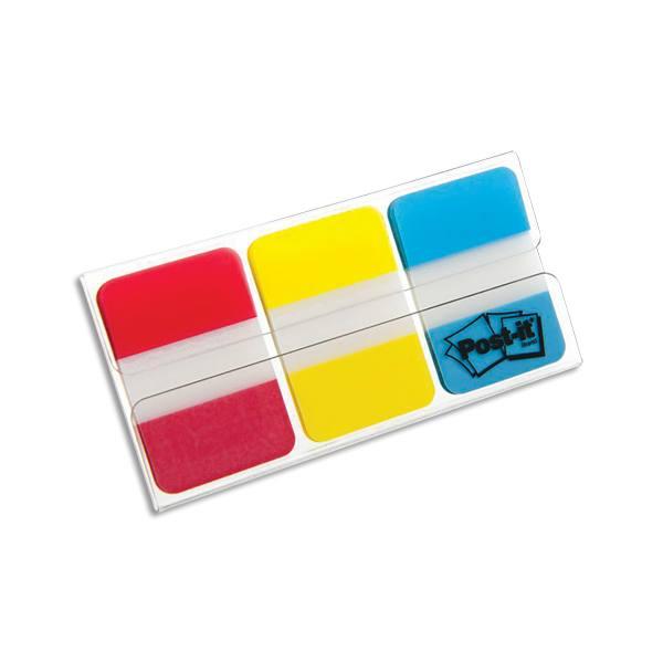 POST-IT Carte de 3 couleurs d'Index Strong 2,5 x 3,8 cm couleurs assortis classiques