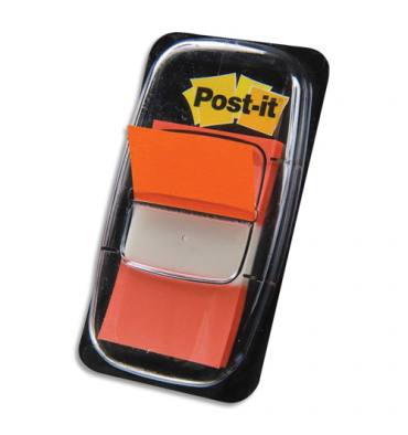 POST-IT Carte de 50 marque-pages index 2,5 x 4,4 cm orange