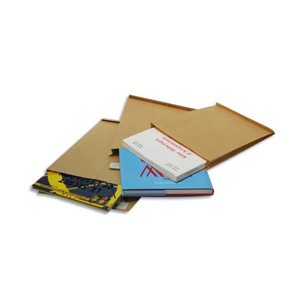 BONG Paquet de 50 pochettes kraft adour auto-adhésives 90g 3 soufflets format 229 x 324 mm C4