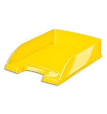 LEITZ Corbeille à courrier Leitz Plus - WOW jaune métallisé - L35,7 x H7 x P25,5 cm