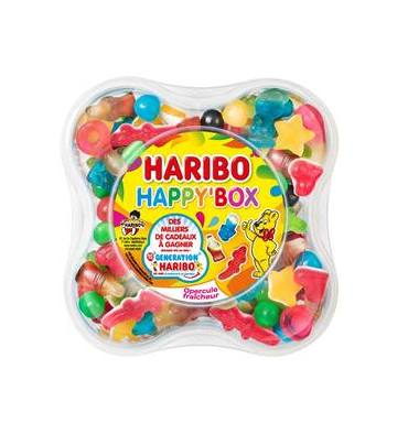 HARIBO Boîte de 600g Happy Box assortiment de bonbons