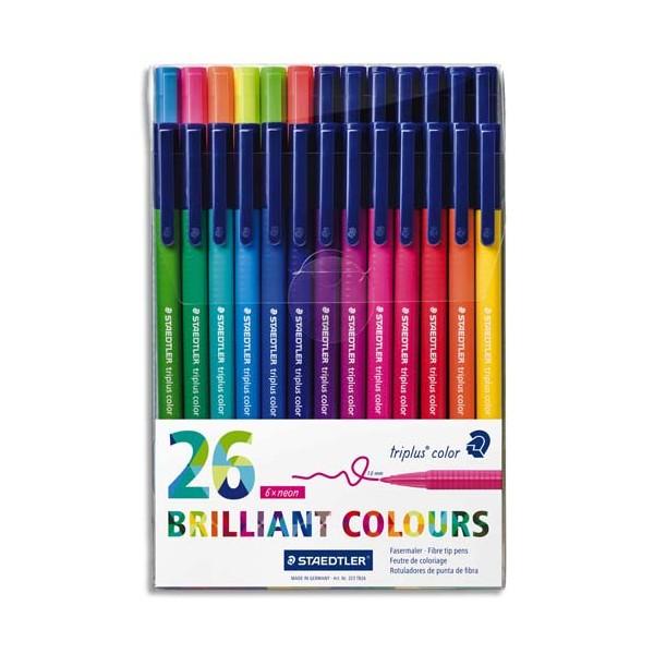 STAEDTLER Pochette de 26 feutres de coloriage Triplus