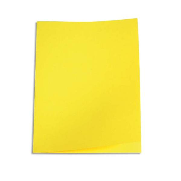 5 ETOILES Paquet de 100 chemises carte recyclée 180g, coloris jaune