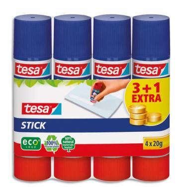 TESA Lot de 4 sticks de colle EcoLogo 20 g