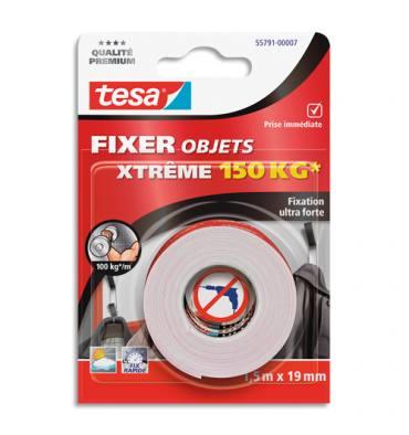 TESA Adhesif de fixation double-face Mounting Extrême 150kg. 19 mm x 1.5 m