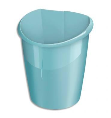 CEP Corbeille à papier Ellypse en Polypropylène, clipsable - Vert d'eau