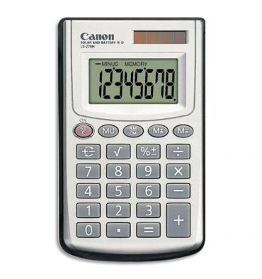 CANON Calculatrice de poche LS-270H 8 chiffres, pile/solaire