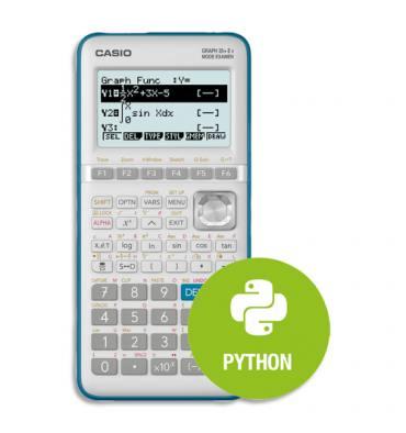 CASIO Calculatrice graphique GRAPH35+E II Menu PYTHON intégré