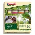 EDDING Pochette de 4 surligneur Ecoline 24. Biseautée. Trait 2 à 5 mm. Jaune, orange, vert, rose