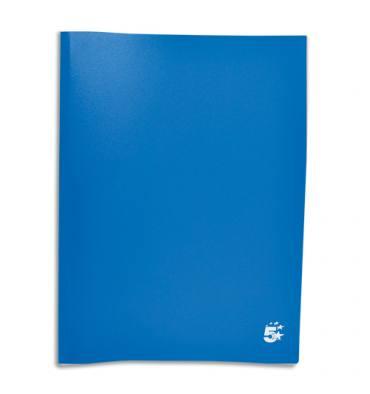 PERGAMY Protège-documents en polypropylène 80 vues, coloris bleu