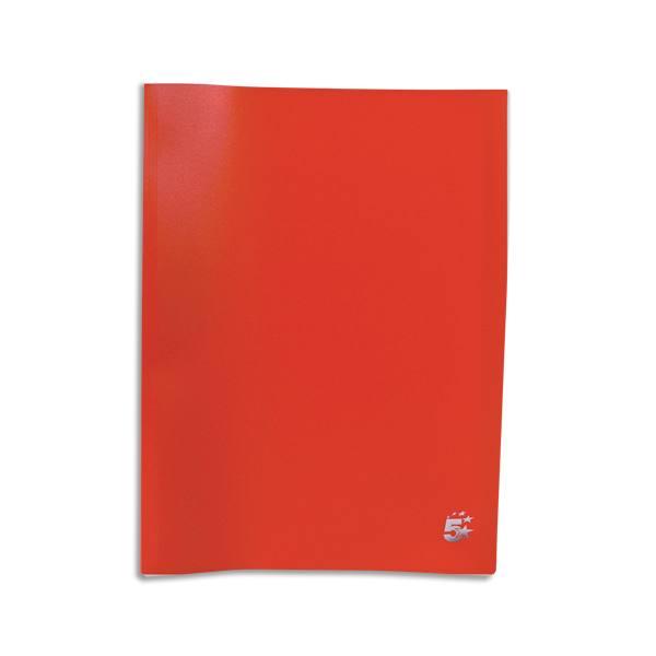 PERGAMY Protège-documents en polypropylène 80 vues, coloris rouge