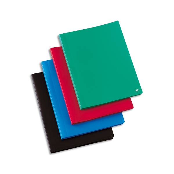 PERGAMY Protège-documents en polypropylène 100 vues, coloris assortis