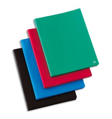 PERGAMY Protège-documents en polypropylène 120 vues, coloris assortis