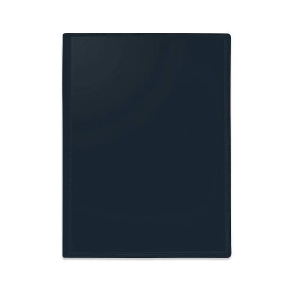 PERGAMY Protège-documents personnalisable en polypropylène noir 80 vues