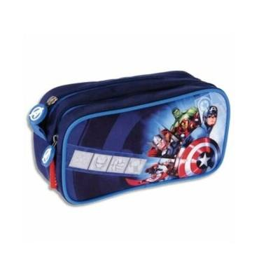 Trousse 2 compartiments. Coloris Bleu - EXCLUSIVITÉ LICENCE AVENGERS