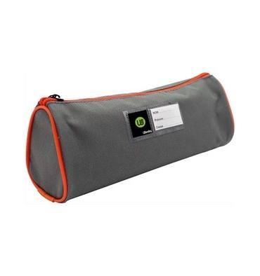 SAFETOOL Trousse écolier ronde - étiquette personnalisable - coloris Gris/Orange