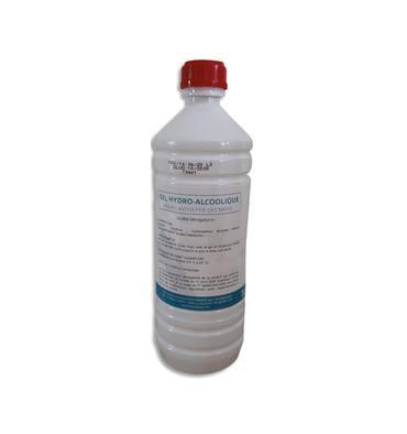 1ER Bouteille 1L gel hydroalcoolique pour la désinfection mains et surfaces