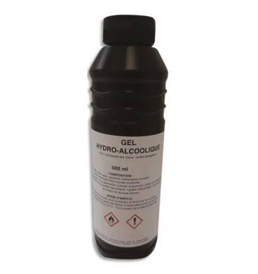 Bidon de 500ml de gel hydro-alcoolique avec 65% d'éthanol