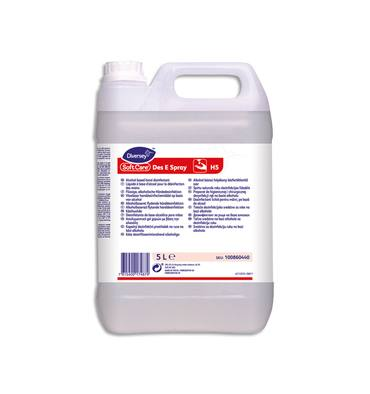 SOFT CARE Bidon de 5 litres de solution hydro-alcoolique, pour les mains, sans parfum, sans colorant