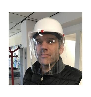 Visière d'hygiène pour casque de chantier/casquette