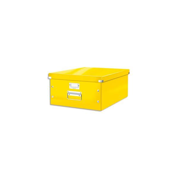 LEITZ Boîte CLICK&STORE L-Box. Format A3 - Dimensions : L36,9xH20xP48,2cm. Coloris Jaune