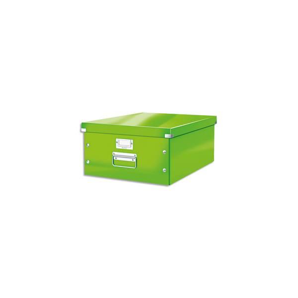 LEITZ Boîte CLICK&STORE L-Box. Format A3 - Dimensions : L36,9xH20xP48,2cm. Coloris Vert.