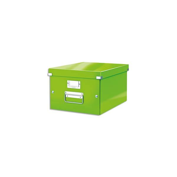 LEITZ Boîte CLICK&STORE M-Box. Format A4 - Dimensions : L281xH200xP369mm. Coloris Vert Wow
