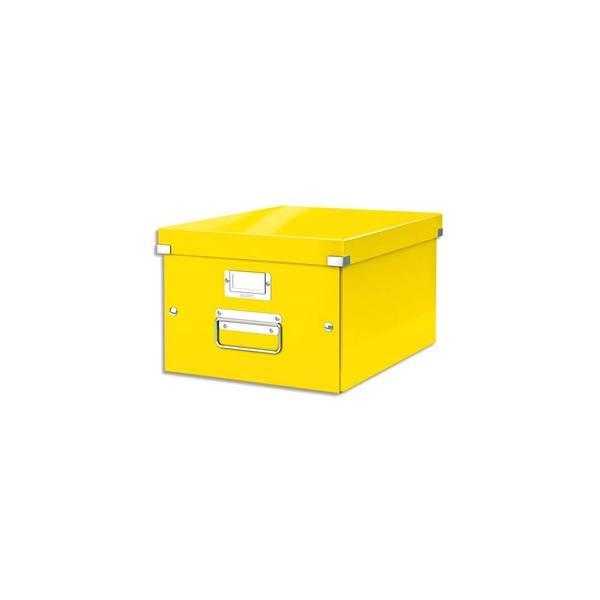 LEITZ Boîte CLICK&STORE M-Box. Format A4 - Dimensions : L281xH200xP369mm. Coloris Jaune Wow