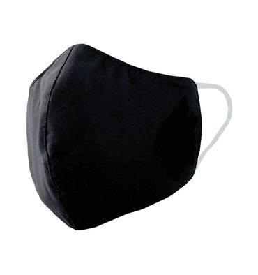 EPI Masque tissu triple épaisseur, déperlant, 30 lavages, sous emballage individuel et stérilisé. Noir.