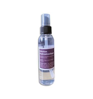 Flacon de 100ml + 25 % offerts solution hydroalcoolique avec vaporisateur