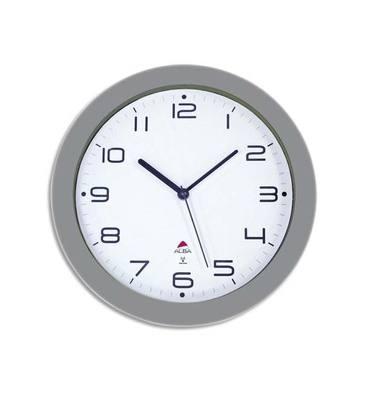 ALBA Horloge murale radio pilotée gris métal diamètre 30 cm Hortime