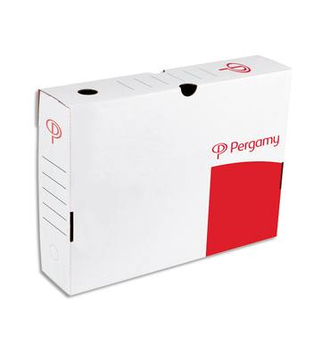5 ETOILES Boîte à archives dos de 8 cm, en carton ondulé kraft blanc