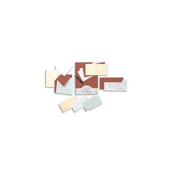 POLLEN BY CLAIREFONTAINE Paquet de 25 cartes 210g POLLEN 11 x 15,5 cm. Coloris blanc