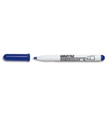 GIOTTO Feutre effaçable à sec pointe ogive moyenne 4 mm bleu, vendu en boîte de 12
