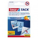 TESA Blister de 200 pastilles adhésives Tack. Double-face réutilisable/repositionnable. Charge 30g