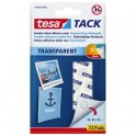 TESA Blister de 72 pastilles adhésives Tack. Double-face réutilisable/repositionnable. Charge 20g