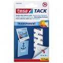 TESA Etui de 72 pastilles adhésives double-face Tack, charge 20 g