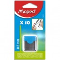 MAPED Blister étui de 10 mines de rechange pour compas pointe 2 mm