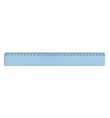 SCHOOLDAY Règle plate 30 cm en plastique incassable