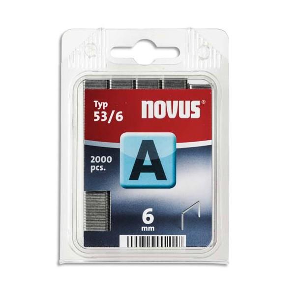NOVUS Blister de 2000 agrafes 53/6
