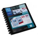 VIQUEL Protège-documents MAXI GEODE en polypropylène opaque 5/10e. Couverture personnalisable. 60 vues. Coloris noir