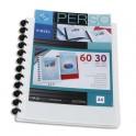 VIQUEL Protège-documents MAXI GEODE en polypropylène opaque 5/10e. Couverture personnalisable. 60 vues. Coloris blanc