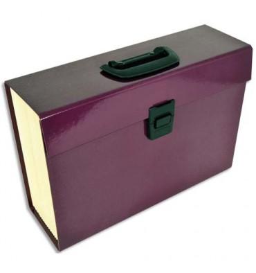 PIERRE HENRY Trieur PREMIUM aubergine avec 20 compartiments, en carton renforcé