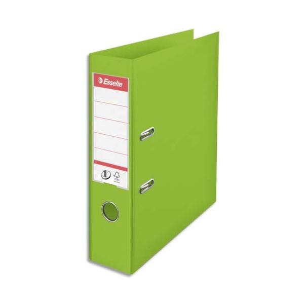 ESSELTE Classeur à levier N°1 POWER en polypropylène, dos 75 mm, coloris vert