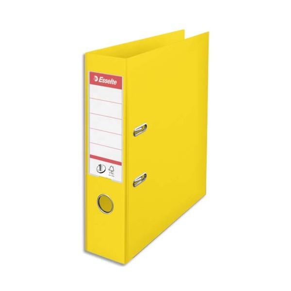 ESSELTE Classeur à levier N°1 POWER en polypropylène, dos 75 mm, coloris jaune
