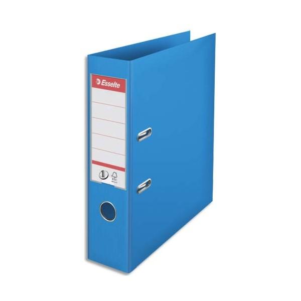 ESSELTE Classeur à levier N° 1 POWER en polypropylène, dos 75 mm, coloris bleu clair