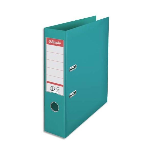ESSELTE Classeur à levier N° 1 POWER en polypropylène, dos 75 mm, coloris turquoise