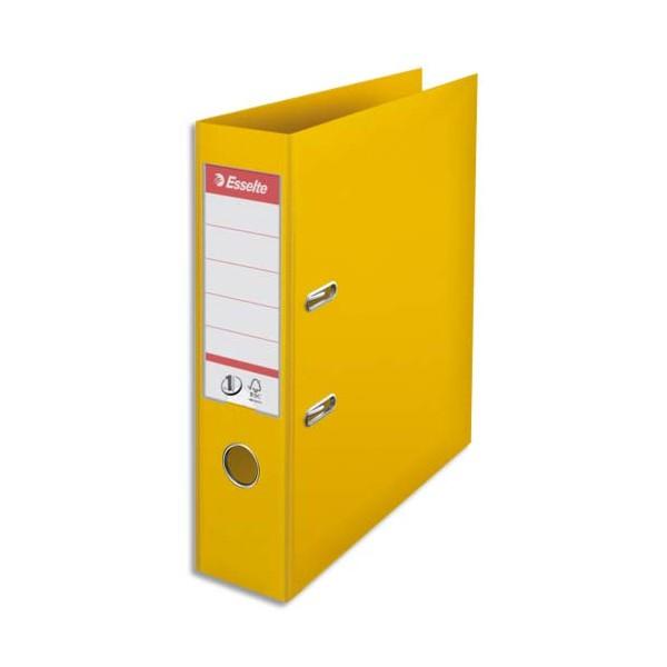 ESSELTE Classeur à levier N° 1 POWER en polypropylène, dos 75 mm, coloris jaune